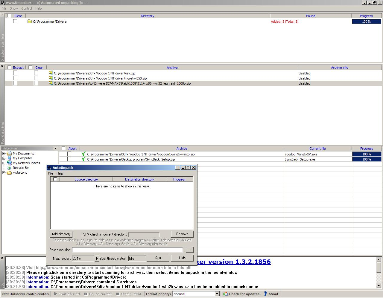 Click to view UnPacker 1.5.0 screenshot