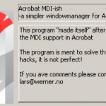 Acrobat MDI About (cutted)