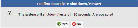 Press OK on the redundant confirmation regarding restart